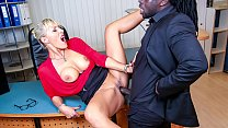BUMS BUERO - Kinky German blonde MILF Lana Vegas fucks BBC in raunchy office affair thumbnail