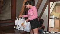 Cock-hungry old bitch seduces s.-in-law
