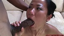 Asian takes 2 monster black cocks صورة