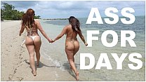 BANGBROS - Latina Lesbians Spicy J & Miss Raquel's Asstastic Day At The Beach thumbnail