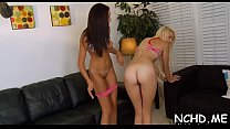 Wicked teen chicks go insane at the casting and fuck hard