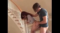 Sexy minx sodomized on the stairs - watch more at teenandmilfcams.com preview image