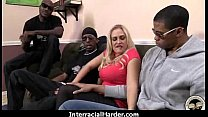 White Girl Spit Roasted By Big Black Cock 7