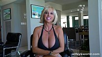 Huge Titty MILF Gets Big Cum Blast Facial preview image