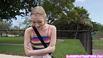 INSANELY cute teen Athena May gets fucked in th...