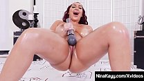 Plump Pussy Squirting Nina Kayy Orgasms While Masturbating! thumbnail