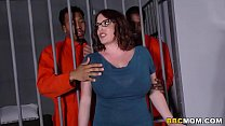 Busty Mom Maggie Green Takes Two BBCs in a Jail preview image