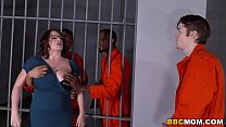 Busty Mom Maggie Green Takes Two BBCs in a Jail - download porn videos