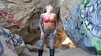Felicity Feline Outdoor blowjob and stripping - 9Club.Top