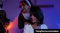 Eat My Bible! Raunchy Nun Penny Pax Anal With Adriana Chechik and Kayla Paris! - 9Club.Top