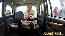 Fake Taxi Sweet blonde Milf fucked through ripped tights on back seat Image