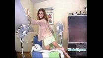 Russian Teen - Redhead Amateur Flat Chested Model In Thong