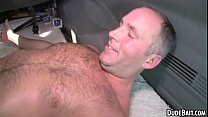This sexy older hunk gets his ass fucked for the first time