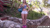 Damn hot AJ Applegate enjoys hardcore DP with her two hunk guys