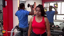 Beautiful Reema Vohra & Other Sexy Aunty Huge Boobs Scene from c. a special gim show