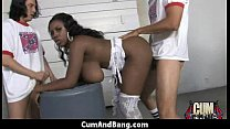 Ebony Hottie Gangbang And Facefuck 26