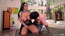 Busty lovers can't wait to see curvy bombshell Sheridan Love's tits fucked thumbnail