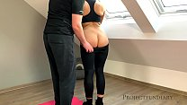 fit teen gets a deep fuck by the trainer - projectfundiary