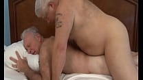 old chubby bear cum thick in gay husband tight asshole
