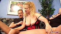German Big Tits Mature Seduce Real Couple to Fuck in front