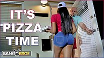 BANGBROS - Black Pizza Delivery Girl Moriah Mills Delivers Her Big Ass To J-Mac preview image