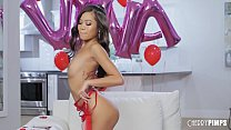 Image: Tiny Asian Cutie Vina Sky Playing With Her Pussy For Valentines Day