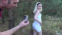 Petite Teen Blonde Hardcore sex in forest with Stepdad thumbnail