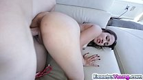 Brunette GF Sophia Torres got fucked on a couch