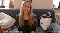 bubbly blonde doing her first ever nude shoot p...