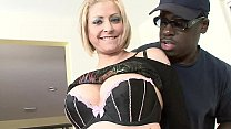 Cock hungry Hot Blonde Horny MILF takes the Big Black Cock and Huge Cumshot thumbnail