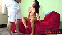 The ebony girl thought she was going to stand without a cock, but it got a lot - Alessandra Carvalho - Frotinha Porn Star -  -