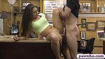 Sensual babe nailed by pervert pawn man in his pawnshop