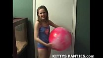 Petite belly dancer teen Kitty teasing and toying's Thumb