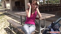 Pretty Brunette Teen Keegan Gets Her After Scho...