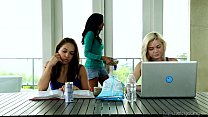 College Sara Luvv and Chloe Amour Toying Each Other - download porn videos