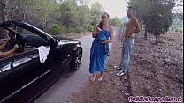 Screenshot Jenny Glam f ucked on a public road and sucks a ...
