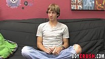 Twink masturbation after being interviewed slowly and nicely