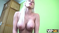 VIP4K. Busty blonde Blanche gives herself to loan officer in the office