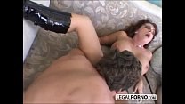 Two horny brunettes fucked hard by two men HC-1-01