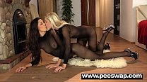 Dido Angel soaks her nylons in piss