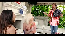 Brother blackmails SISTERS with their lesbian sextape-Gianna Gem & Kiara Cole