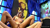 Ria sunn shows anal riding in reverse cow girl