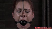 Anal hooked tie d up sub whipped hard d hard