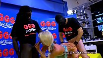 Blonde gets facials from black dick - 9Club.Top