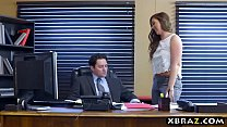 Image: Big ass office bitch gets anal drilled by her boss