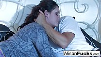 Alison Tyler and her male gigolo's Thumb