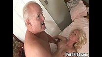 Young whore gives massage and pussy to old guy preview image