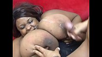 Horny stud fucks a black babe with big boobs th...