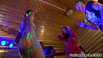 Euro college teens covered in jizz after orgy