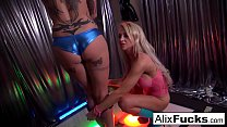 Strip Club client gets to finger two hot lesbian strippers
